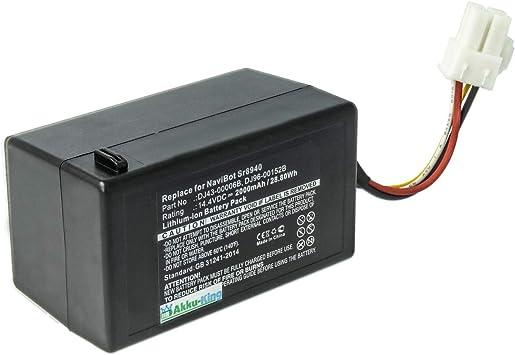VCR8940 SAUGROBOTER AKKU BATTERIE 2000mAh für SAMSUNG Navibot SR8981