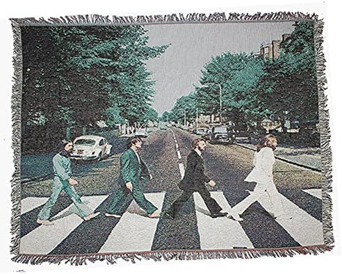 Beatles Tapestry, Abbey Road Art Wall Hanging Wall Tapestry Hippie Mandala Bohemian Curtain Bed Cover Sofa Towel Living Room Bedroom Space Decor-A 47x59inch 120x150cm