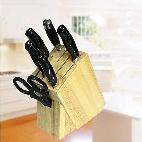 Xue-Shelf Porta Cuchillos Estante de Cocina De Goma Cuchillo ...