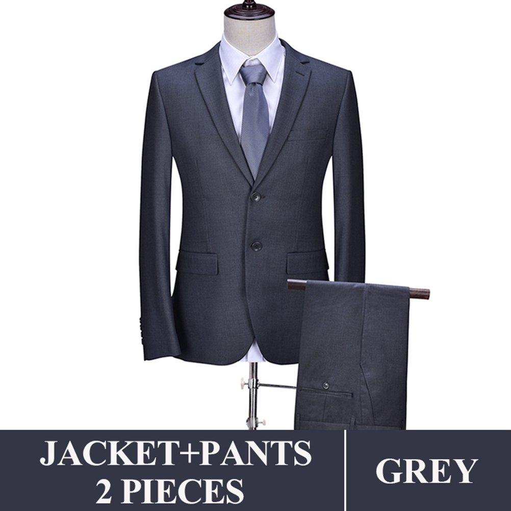 577Loby Men Business Suit Slim Fit Classic Male Suits Blazers Suit Two Buttons 2 Pieces(Suit Jacket+Pants) by 577Loby