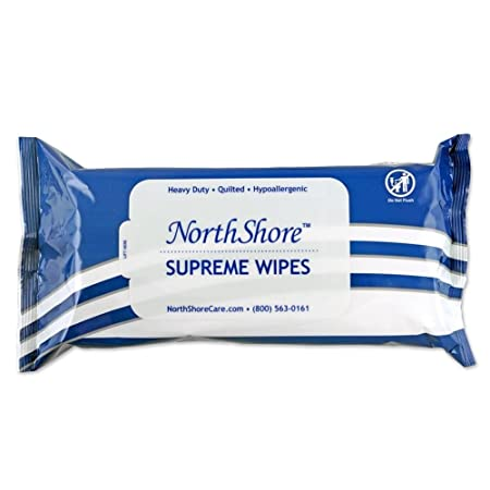 NorthShore Supreme Heavy-Duty Quilted Wipes, X-Large, 9 x 13 in, Case 600 12 50s
