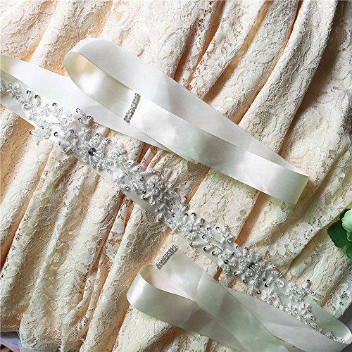 Vintage Cintura Applique Di Pizzo Nozze Azalee Viola Di Con Di Paillettes Perla q7tdXxf