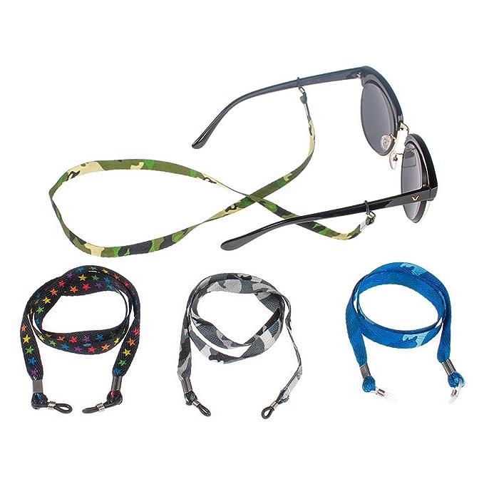 Soleebee 4 pezzi universali Corda per occhiali cotone Cordino per occhiali/Corda per occhiali/Occhiali da sole Cordino per collo/portaocchiali tEmrtfs
