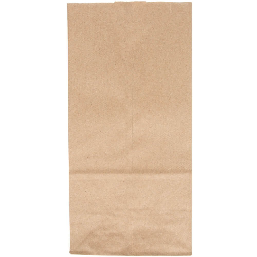 Duro WB4521f Paper Lunch Bags, 8 lb, Brown