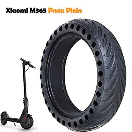 Llanta Compatible para Xiaomi M365, Antideslizante Xiaomi M365 Neumático de 8,5 Pulgadas Llanta de Repuesto sólido para llanta Delantera/Trasera ...