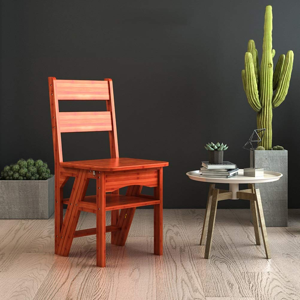 Step Stool Wooden- Escalera de Tijeras Plegable Taburete de ...