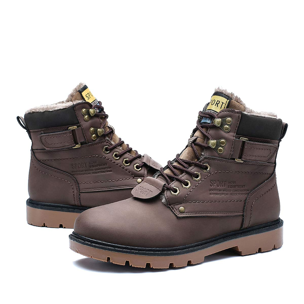 c9af894aea1 gracosy Hombre Botas de Senderismo Invierno Cálido 2019 Impermeables  Antideslizante Ocio al Aire Libre Zapatos de