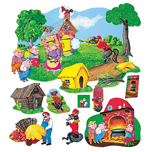Three Little Pigs Deluxe Felt Figure set