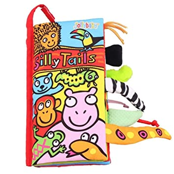 Kids Animal Tails Cloth Book Baby Puzzle Toy Development Books Education Books L