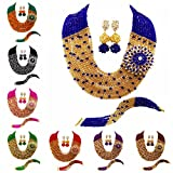 aczuv Multi Strands Statement Necklace Nigerian Wedding African Beads Jewelry Set Crystal Bridal Jewelry Sets