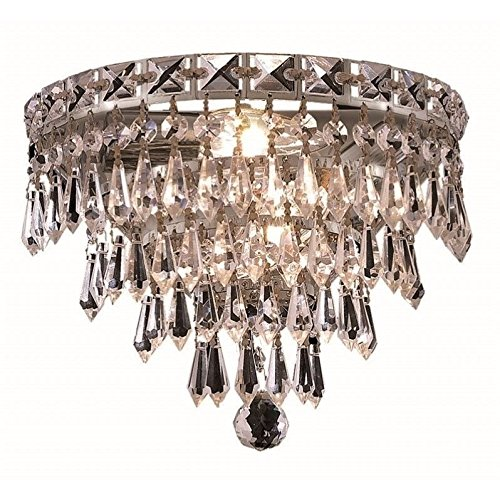 Elegant Lighting 2526W12C/RC Muse Collection 2-Light Wall Sconce with Bordeaux Royal Cut Crystal, 12