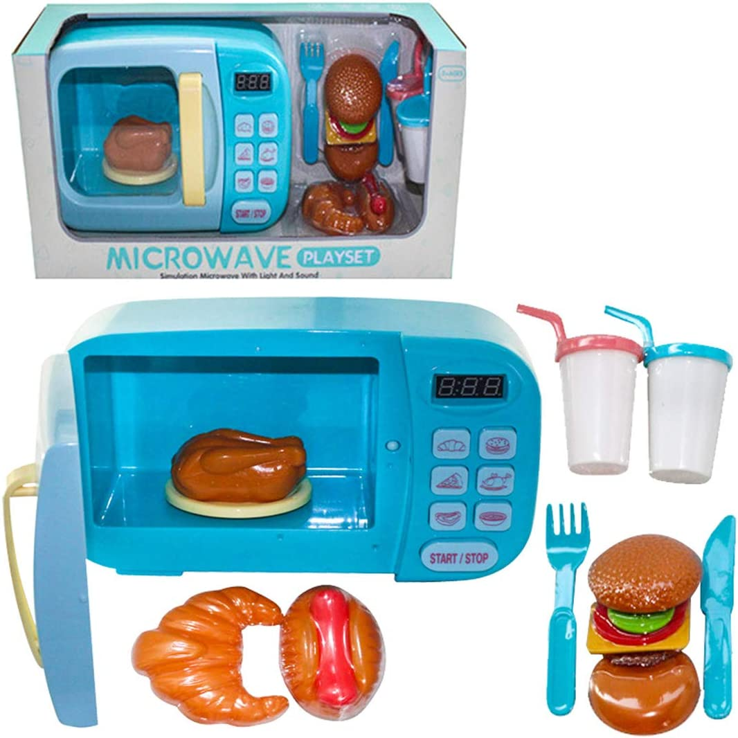 Tosbess microondas Juguete luz Sonido microondas Juguete niños ...