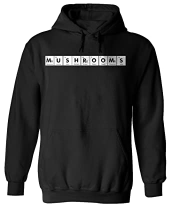 Amazon mushrooms periodic table chemistry funny adult black mushrooms periodic table chemistry funny adult black hoodie for men and women x3 s urtaz Image collections