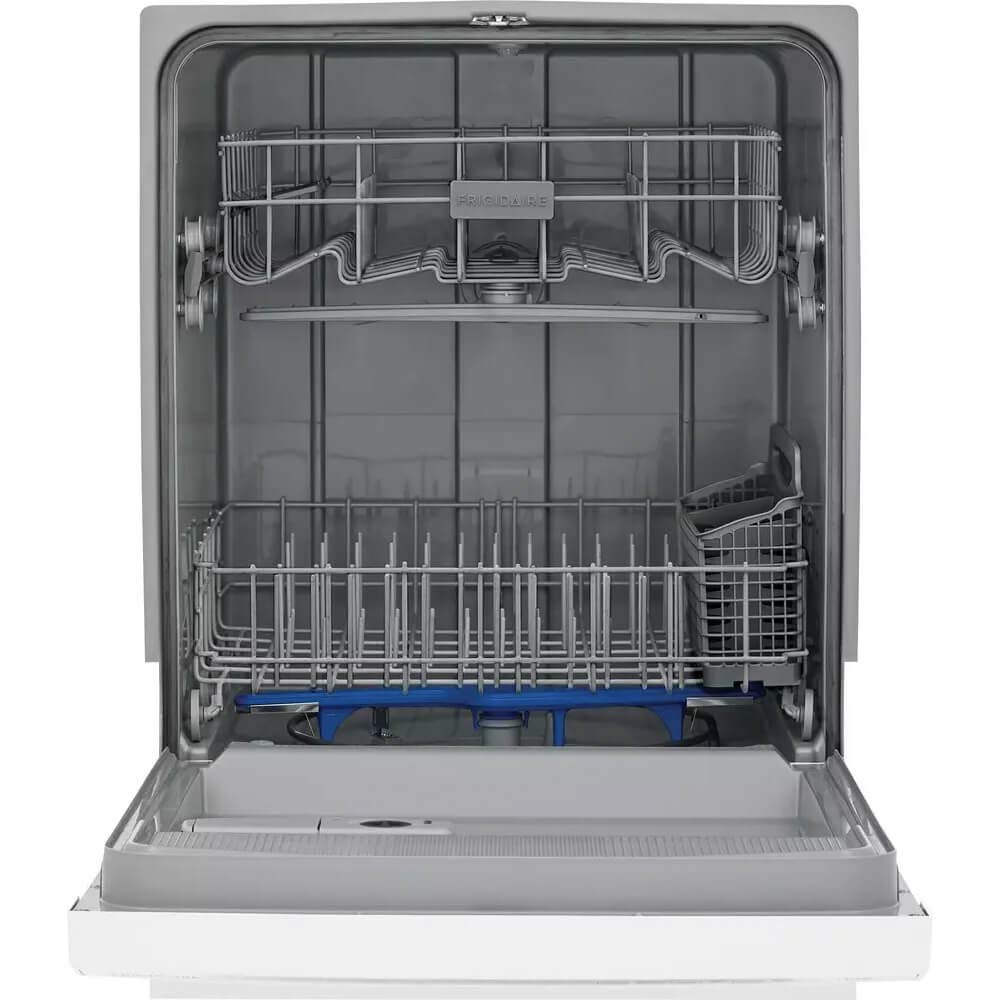 Frigidaire FFCD2418UW 24 Inch Built In Full Console Dishwasher with 5 Wash Cycles, 14 Place Settings, in White