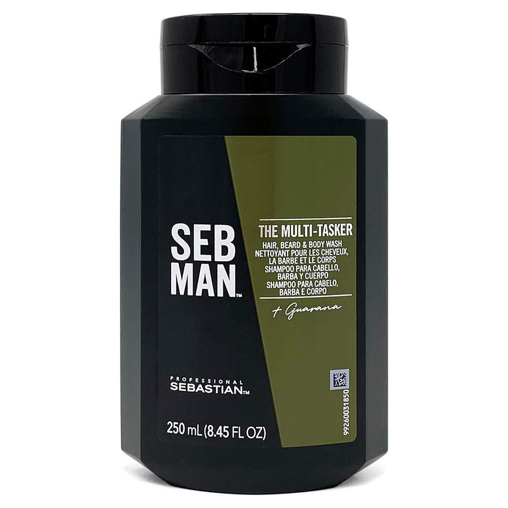 Amazon Com Sebastian Seb Man The Multi Tasker Men S All In One Hair Beard Body Wash 8 4 Fl Oz Premium Beauty
