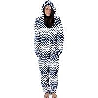 Onsies Pijamas Pijama de un Pieza para Mujer con Motivos Geométricos