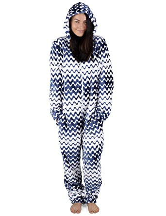 49997900e19 CityComfort Womens Onesie Fleece Twosie Super Soft Women Pyjamas Jumpsuit  for Woman Two Colours Geometric Lines Stars  Amazon.co.uk  Clothing