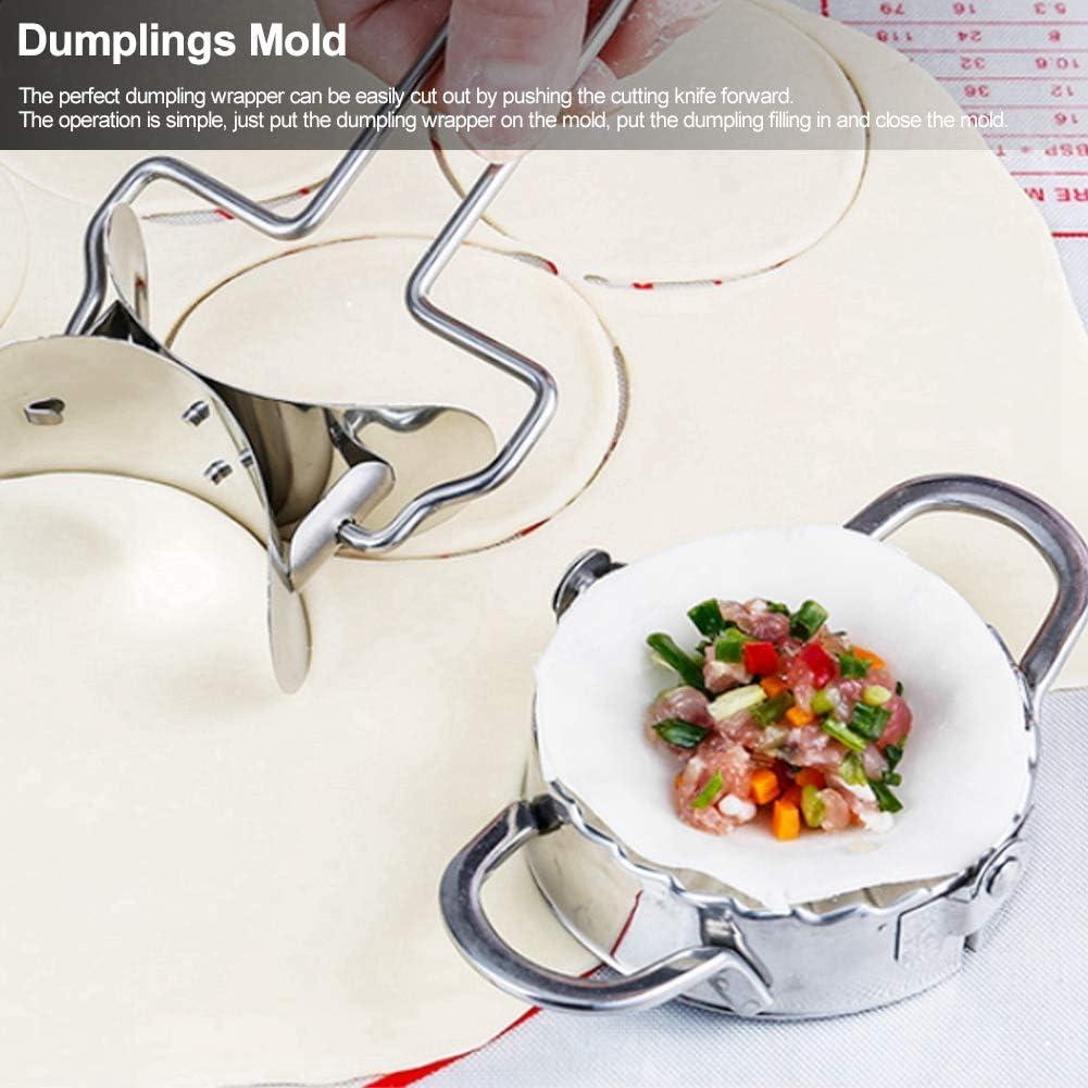 Manual Dumplings Mold Stainless Steel Dumpling Wrapper Kitchen Utensils FAMKIT Dumplings Maker