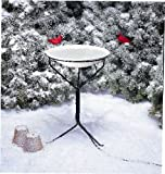 New Allied Precision 20 In. Non-heated Bird Bath W/Metal Stand 150 Watts High Quality Modern Design For Sale
