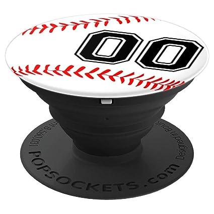 Amazon.com: PopSockets Grip - Camiseta de béisbol con número ...