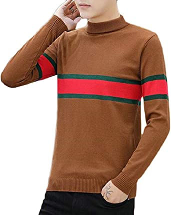MOUTEN Men Camouflage Regular Fit Knitted Long Sleeve Pullover Sweater Jumper Top