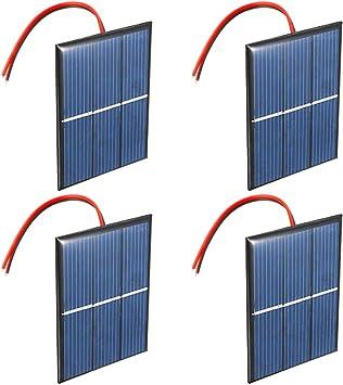 Spielzeug Heimwerken Satz von 4 St/ück NUZAMAS 1.5V 0.65W 60X80mm Mikro-Mini-Solar-Panel-Zellen f/ür Sonnenenergie Wissenschaft Projekte Akku-Ladeger/ät