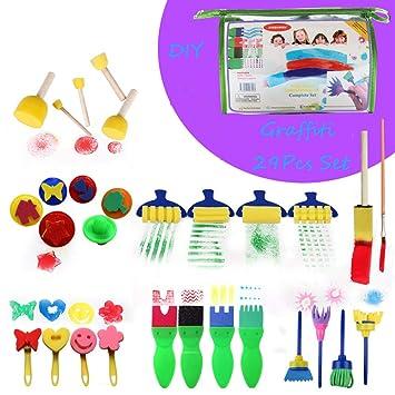 Amazoncom Ushot 29 Pcs Creative Set Kids Early Learning Sponge