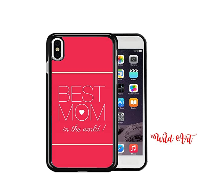 buy online 1f96e 08c6b Amazon.com: iPhone X CASE - Best Mom in The World Red Background ...