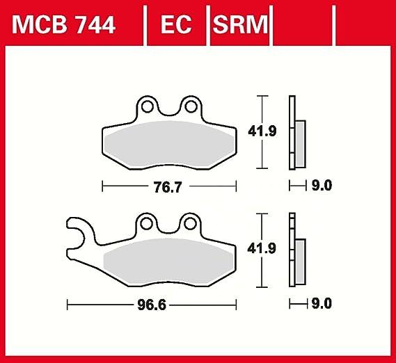 TRW MCB744EC Scheibenbremsbelag