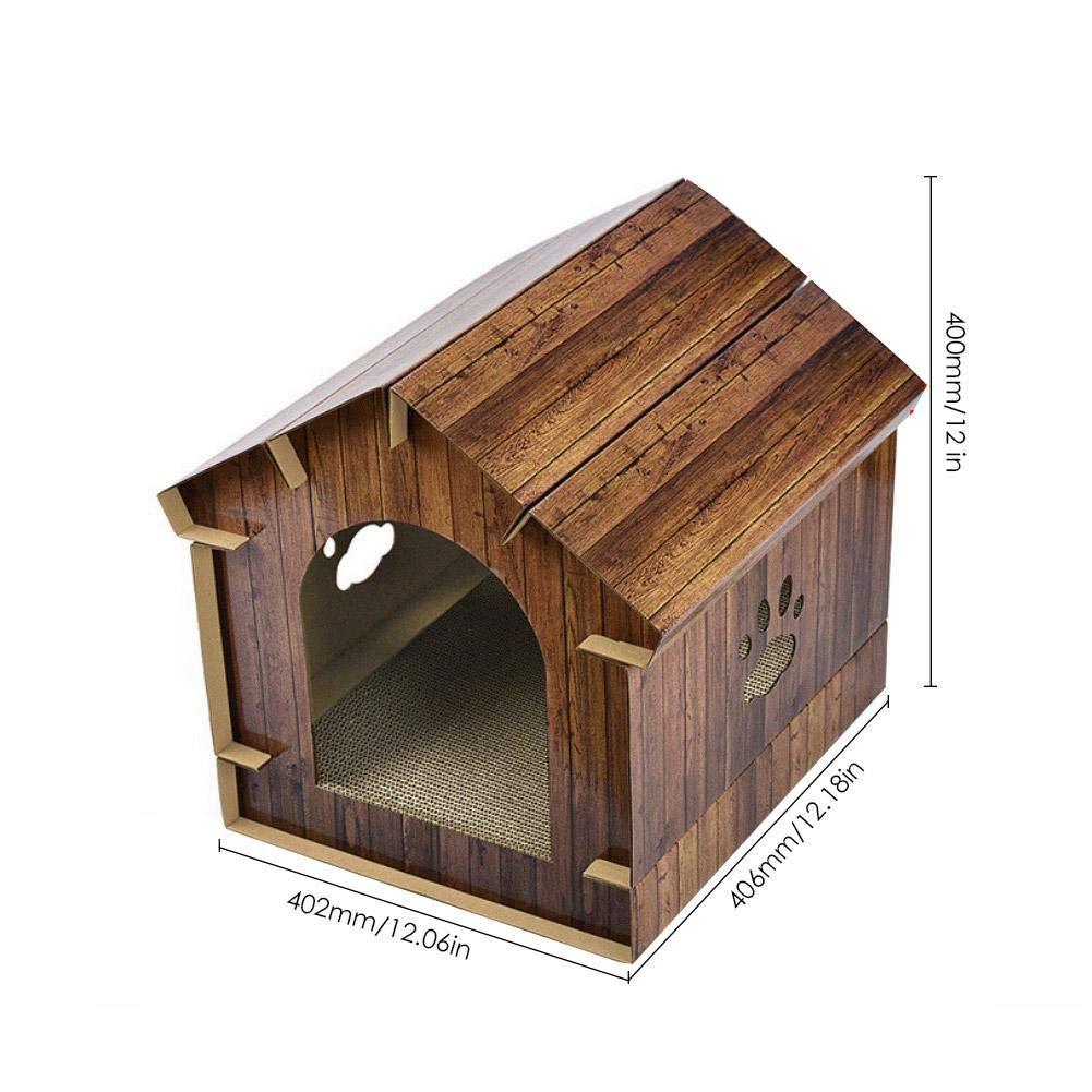 AIHOME 3 en 1 Gato Casa de cartón Ondulado, Gato hogar Grande, Premium Gato Cueva Gato Cesta con rubbel Tabla: Amazon.es: Productos para mascotas