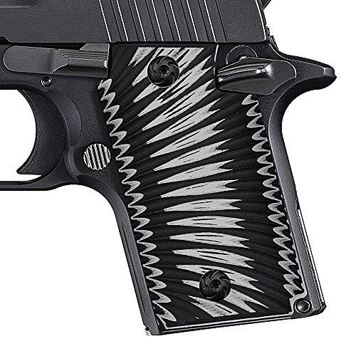 Sig Sauer P938 Grips, Sunburst Texture, White/Black G10, Cool Hand Brand, H4-J6-22