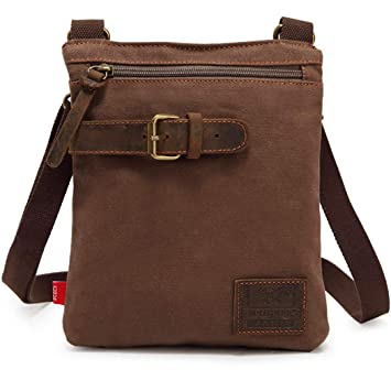 02a5ee2dc9b1 Buy Fanspack Canvas Satchel Bag Large Capacity Fashion Crossbody Bag  Shoulder Bag for Men Online at Low Prices in India - Amazon.in