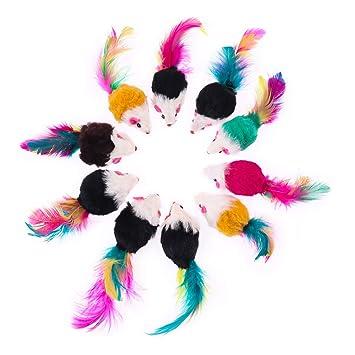 UEETEK 10 pcs peluches juguetes para mascotas juguetes de ...