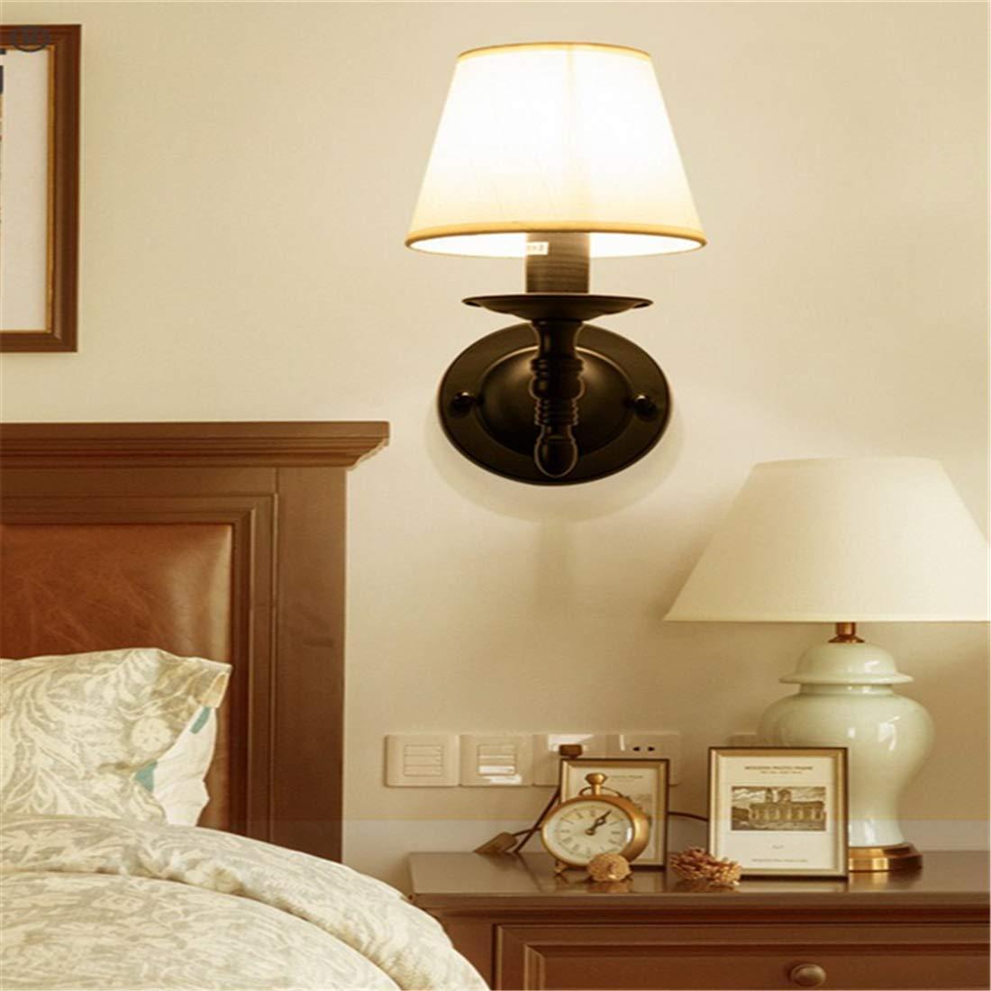 Wandleuchte Wandleuchten Amerikanische Wandlampe Schlafzimmer Schlafzimmer Nachttischlampe Einfache Moderne Wohnzimmer Europäischen Hintergrund Wand Balkon Kreative Wandleuchten [Energieklasse A ++]