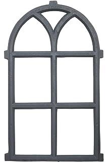 Fenster grau Stallfenster Eisenfenster Scheunenfenster Eisen 72cm Antik-Stil f2