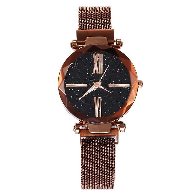 Mymyguoe Correa Hebilla Reloj Reloj de Pulsera Hombre Reloj de Cuarzo Reloj Mujer Unisex Reloj de Pulsera Reloj Mujer Moda Reloj analogico Reloj de Dama: ...