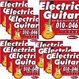 "Ikebe Original Electric Guitar Strings ""イケベ弦 エレキギター用 010-046"" [Regular Light Gauge/IKB-EGS-1046]×10セット"