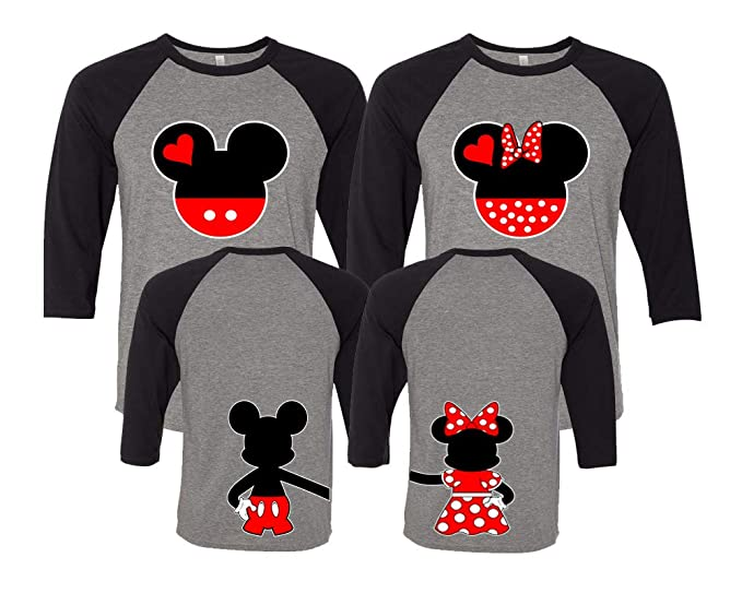 76adaea0f6 Mickey & Minnie Matching Couple Outfits - Disney Couple Shirts with Holding  Hands Gray/Black