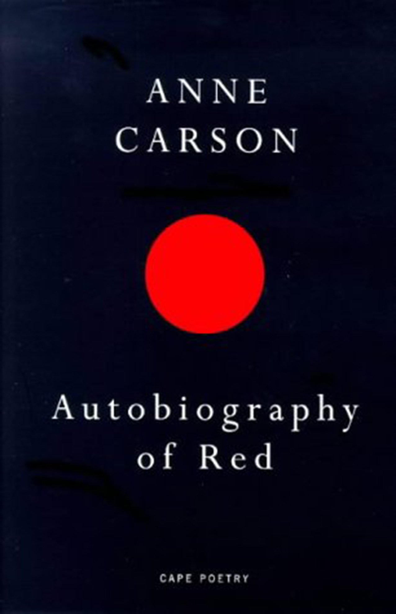 co Autobiography Carson Of ukAnne Redcape PoetryAmazon vw80OmNn