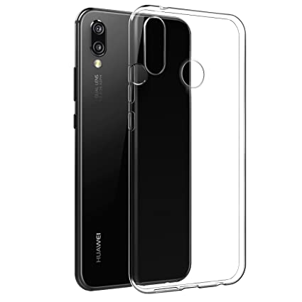 new style ff8f8 965ab Case For Huawei P20 Lite, Clear Case For Huawei P20 Lite, [Fusion] [Clear]  [Silicone Case] [Slim] [Phone Charm] [Gel Case] [Transparent] [Shock ...