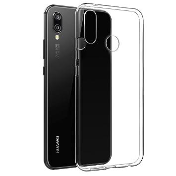 Funda Huawei P20 Lite, Huawei P20 Lite, [Fusion] [Transparente] [Carcasa de Silicona] [Delgado] [Abalorio de teléfono] [Carcasa de gel] [Transparente] ...
