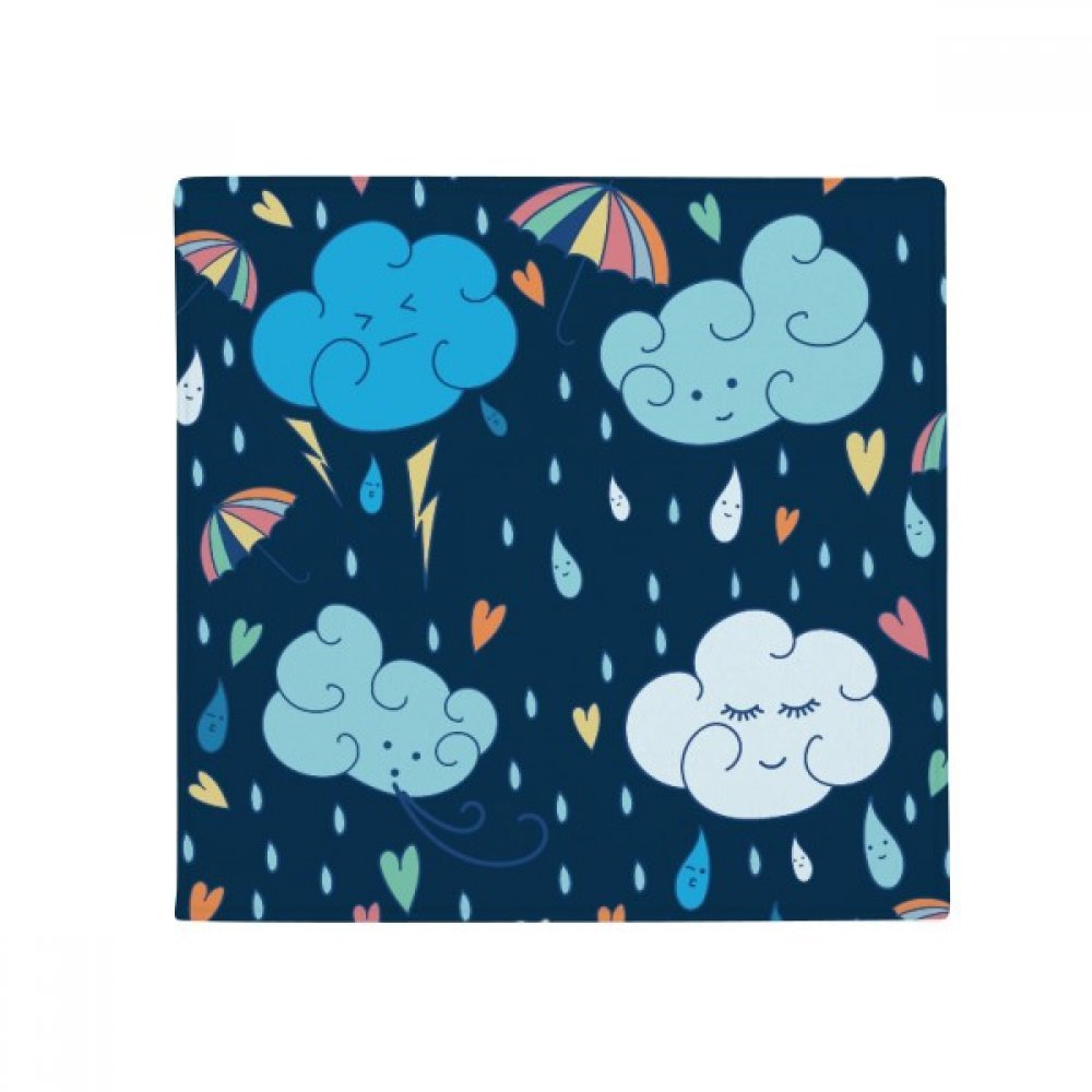 DIYthinker Cloud Umbrella Rain Heart Anti-Slip Floor Pet Mat Square Home Kitchen Door 80Cm Gift