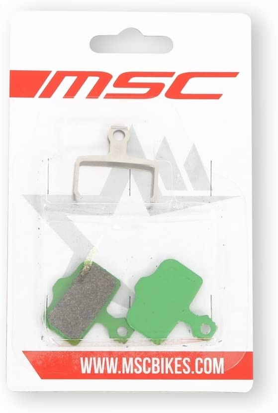 Verde//Green Talla /Única MSC Bikes Avid Pastillas de Freno Org/ánicas
