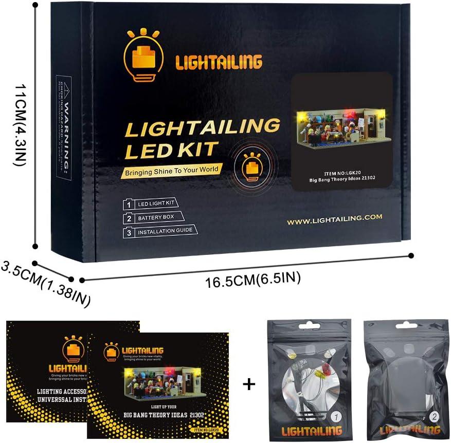 LIGHTAILING Conjunto de Luces (Ideas The Big Bang Theory) Modelo de Construcción de Bloques - Kit de luz LED Compatible con Lego 21302 (NO Incluido en el Modelo): Amazon.es: Juguetes y juegos