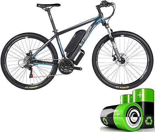 HJHJ Bicicleta de montaña eléctrica, Bicicleta híbrida de batería ...