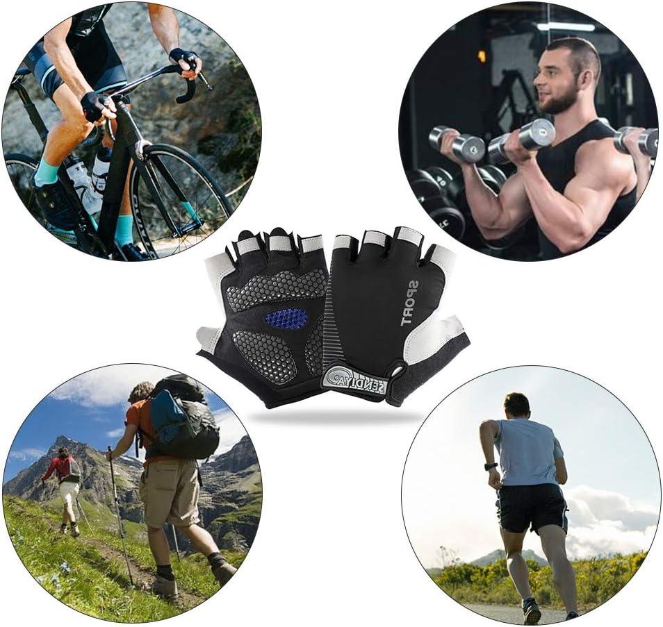 IvyLife Gants Cyclisme Homme V/élo Gant Fitness de Sport Demi-Doigts Anti-d/érapant Gants Respirante d/'/ét/é 3D Gel pour VTT Gym Randonn/ée Escalade