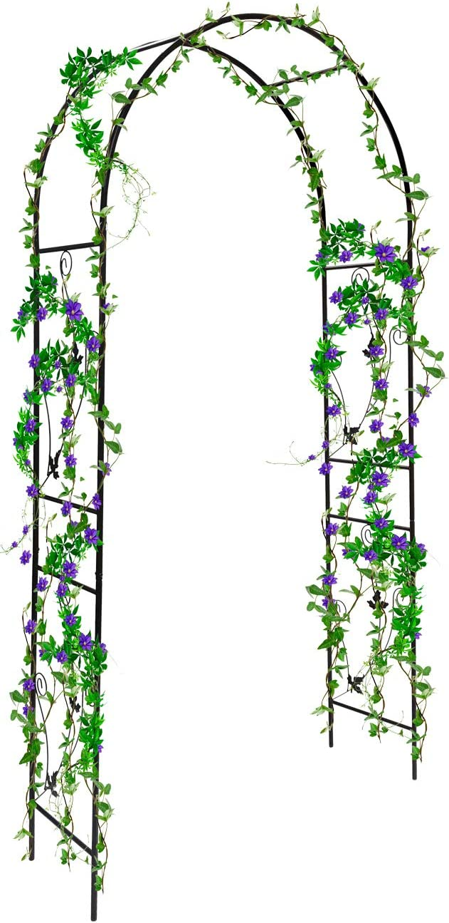 Sorbus Garden Arbor Pergola Arch for Climbing Plants, Roses, Indoor/Outdoor, Great for Backyard, Lawn, Patio, Courtyard, Wedding Decorations, Over 7-ft