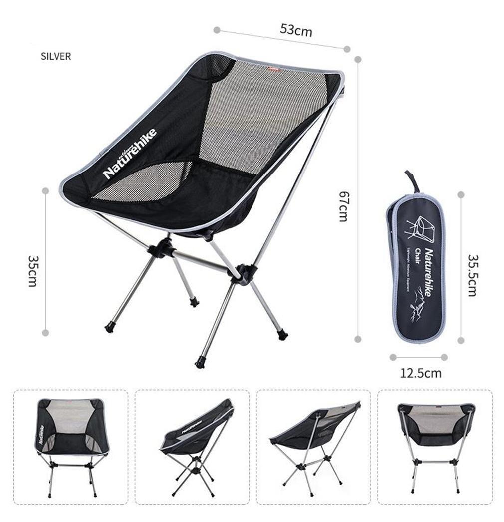 TTYY Moon Chair Outdoor Klappstuhl verschleißfesten Angeln Camping Strand 4 PCS (bitte hinterlassen Sie eine Nachricht, wenn Sie eine andere Farbe benötigen)
