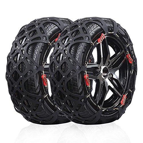 Rupse Tire Chain of Car ,SUV Emergency Mud Snow Tire Anti-Skid Security Chains Set of 2 A12 (905-A12)
