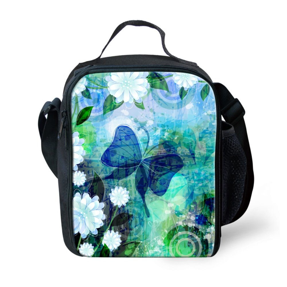 Showudesigns Inlulated Printing Cat Lunch Bag for School Children Kids with Handle
